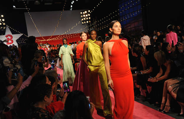 Supermodel Lily Aldridge walks Brandon Maxwell's runway show