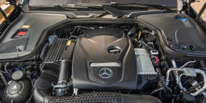 Engine and Transmission: Mercedes-Benz offers the E-class in two potencies-the E300 is motivated by a turbo four-cylinder while E400 models come with a twin-turbo V-6.