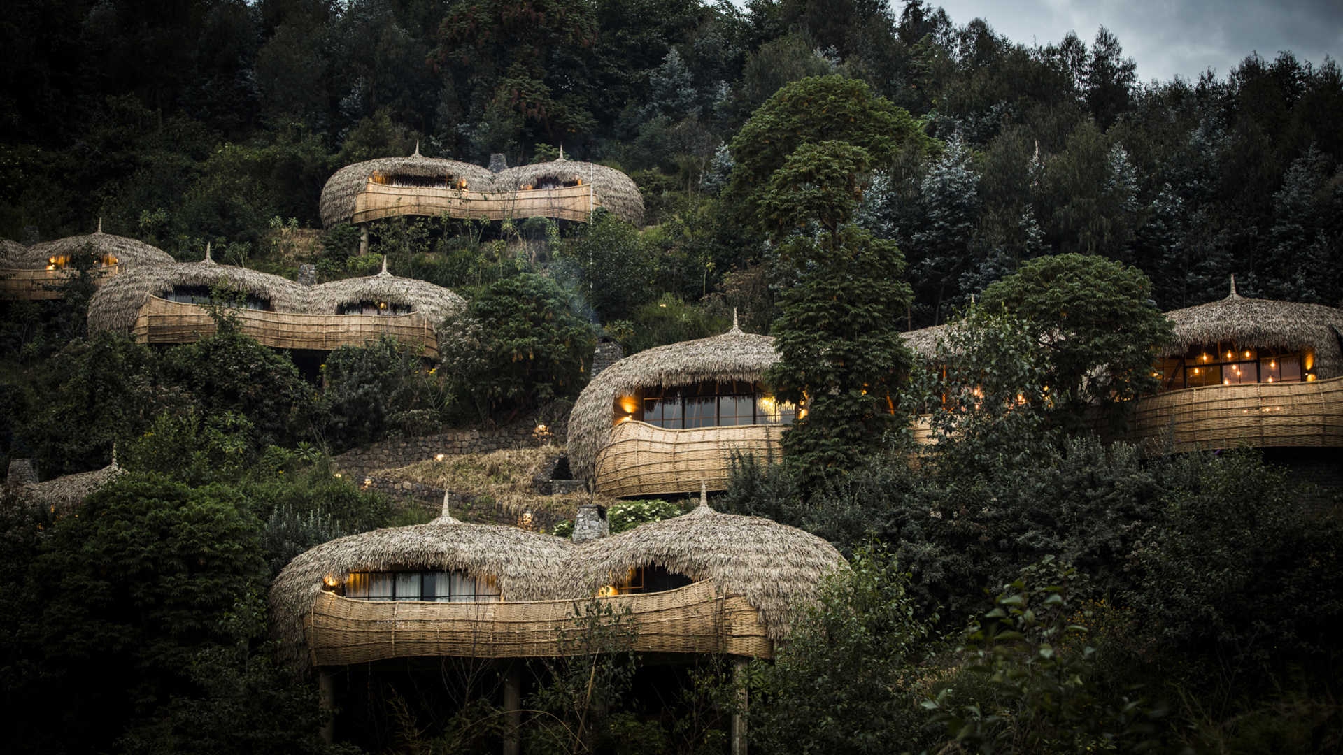 Slide 34 of 77: Wilderness Safaris Bisate Lodge Volcanoes National Park, Rwanda)