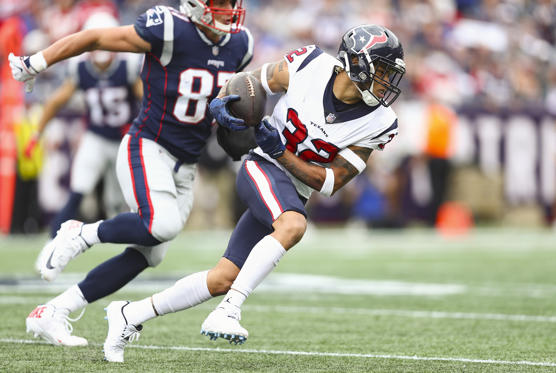 Slide 1 of 20: FOXBOROUGH, MA - SEPTEMBER 09:  Tyrann Mathieu #32 of the Houston Texans runs with the ball after recovering a fumble by Rob Gronkowski #87 of the New England Patriots during the third quarter at Gillette Stadium on September 9, 2018 in Foxborough, Massachusetts.  (Photo by Maddie Meyer/Getty Images)
