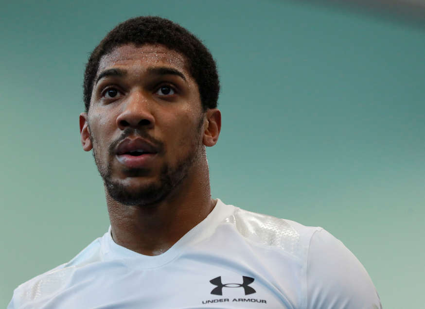 Boxing - Anthony Joshua Media Day - English Institute of Sport, Sheffield, Britain - September 12, 2018   Anthony Joshua during a training session   Action Images via Reuters/Andrew Couldridge