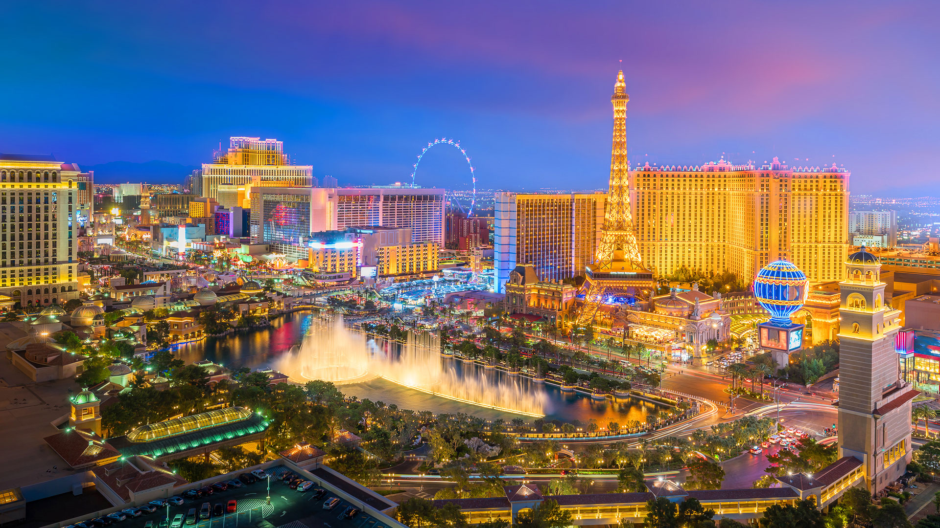 Slide 3 of 32: Meals: $330Drinks (including beer): $50.763-night hotel stay: $328Airfare: $484.82Sin City is another one of the best U.S. cities to visit, and there are many fun and free things to do in Vegas. Take in fabulous fountains and flora for free at the Bellagio, which features a conservatory in addition to its famous fountains. Or, just walk down the infamous Strip and marvel at the street performers and bright lights.
