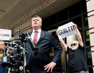 Defense attorney Kevin Downing departs following a plea agreement hearing for his client former Trump campaign manager Paul Manafort ahead of a trial on a range of charges stemming from Special Counsel Robert Mueller's investigation into Russian interference in the 2016 election at U.S. District Court in Washington, U.S., September 14, 2018.