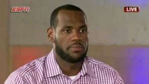 Ending weeks of silence and drama, LeBron James said on his ESPN special on Thursday night that he's decided to join the Miami Heat and leave the Cleveland Cavaliers after an unsuccessful seven-year quest for the championship he covets. (July 8)