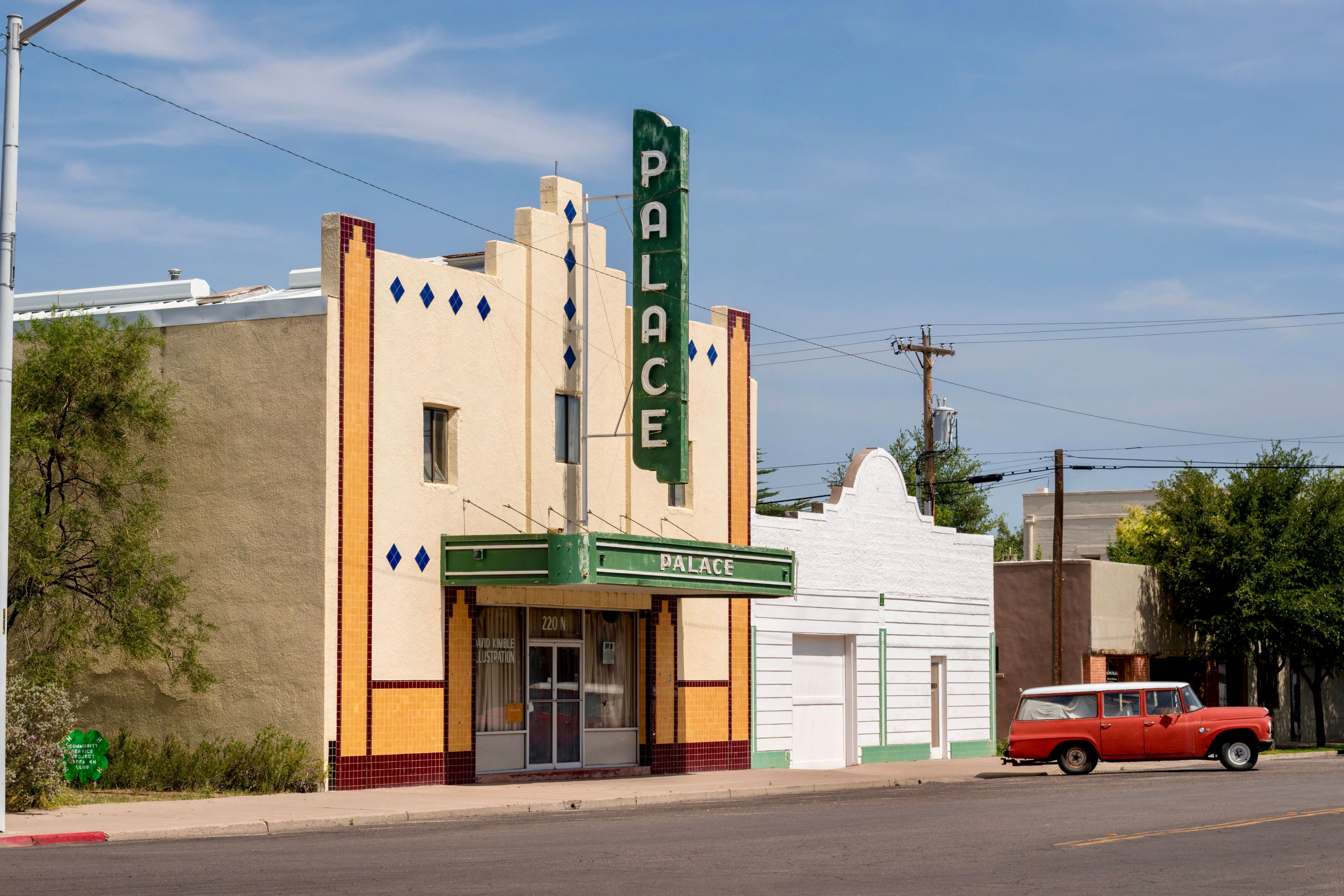 Slide 10 of 23: Palace theater marfa; Shutterstock ID 1146165182; Purchase Order: -