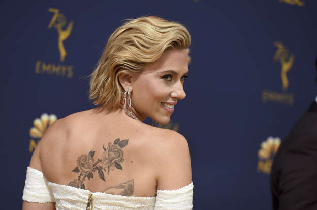 Scarlett Johansson Shows Off Her Massive Back Tattoo At The Emmys