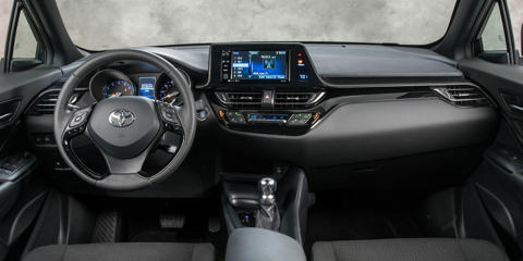 Quality materials and nifty design details make the Toyota C-HR's interior impressive at first glance, but it is let down by cramped passenger space.