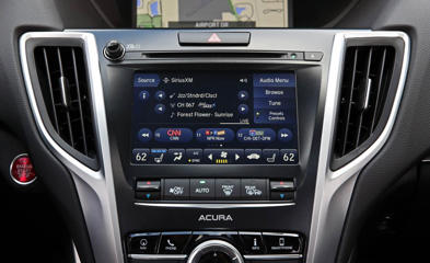 Acura TLX center console and infotainment system
