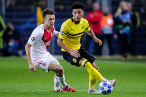 Jadon Sancho of Borussia Dortmund during the UEFA Champions League  match between Borussia Dortmund v AS Monaco at the Signal Iduna Park on October 3, 2018 in Dortmund Germany