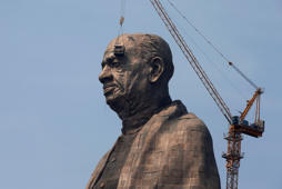 Glimpse of world's tallest statue of Sardar Patel