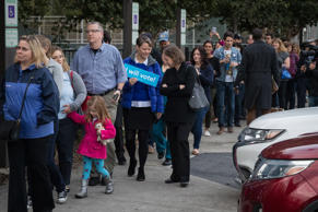 HOUSTON, TX - OCTOBER 22: People wait in line to vote at a polling place on the first day of early voting on October 22, 2018 in Houston, Texas. Democratic Senate candidate Rep. Beto O'Rourke is running against Sen. Ted Cruz (R-TX) in the midterm elections. (Photo by Loren Elliott/Getty Images)