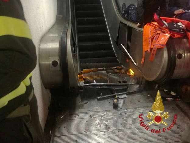 Unfall Vor Fussballpartie In Rom Rolltreppe Rast Plötzlich Runter