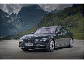 a car parked on the side of a mountain: 2018 BMW 7-Series