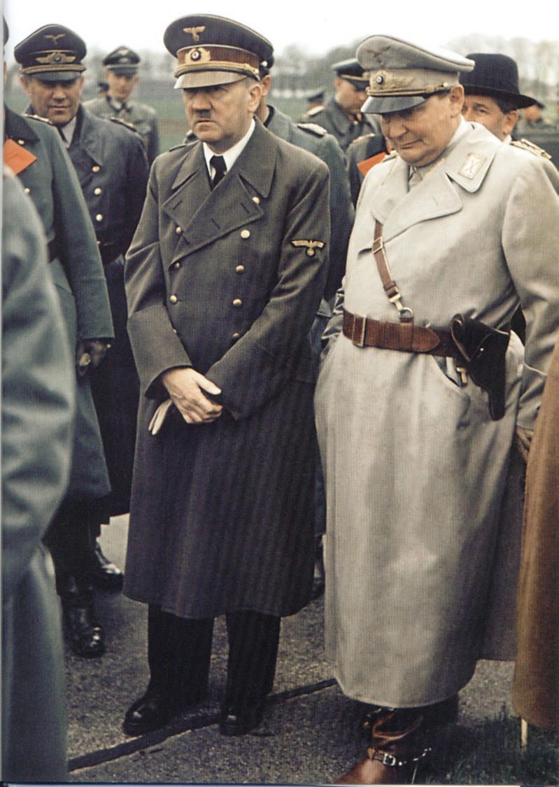 Adolf Hitler with Herman Goring Head of the Luftwaffe in 1940. (Photo by: Photo 12/UIG via Getty Images)