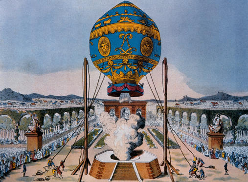 Slide 1 of 25: Balloon Ascent, Paris, France, Etienne Montgolfier, 1783. (Photo by: Universal History Archive/UIG via Getty Images)
