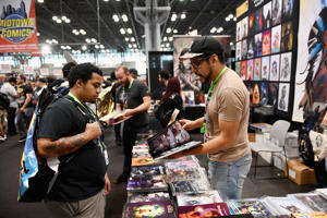NEW YORK, NY - OCTOBER 04:  Comic book merchandise on display during New York Comic Con 2018 on October 4, 2018 in New York City.  (Photo by Noam Galai/Getty Images for New York Comic Con)