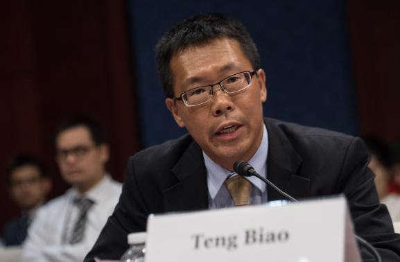 L'avocat Teng Biao, le 18 septembre 2015 à Washington (Etats-Unis).