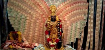 Deity at temple decorated with notes worth ₹4.5 cr