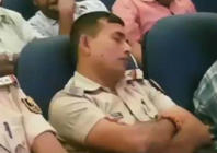 Police officers caught sleeping during law & order briefing