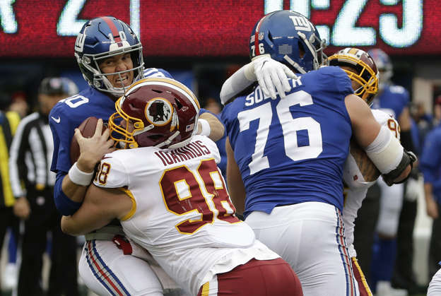 f600d9caa03 Giants look dead as a mummy in pre-Halloween loss to Redskins