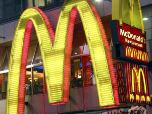 Economy USA: Mc Donalds Fast Food Restaurant at Times Square New York City. (Photo by plus49/Construction Photography/Avalon/Getty Images)