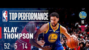 In only three quarters Klay Thompson broke Stephen Curry previous record of 13 3-pointers made 11/07/2016. Thompson posted 52 points (18-29 FG) (14-24 3PT) and 5 rebounds in a 149-124 victory over the Chicago Bulls.  Which players owned the night? Catch up on all the top individual performances around the league in the Top Performers series.  Subscribe to the NBA: http://bit.ly/2rCglzY  For news, stories, highlights and more, go to our official website at http://www.nba.com  Get NBA LEAGUE PASS: http://www.nba.com/leaguepass
