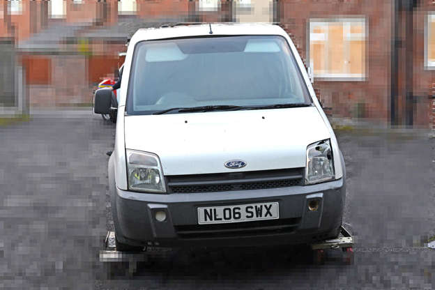 b197995bd8a Undated handout photo issued by Greater Manchester Police of the stolen van  that was being pursued