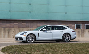 a car parked in a parking lot: 2018 Porsche Panamera 4/4S Sport Turismo