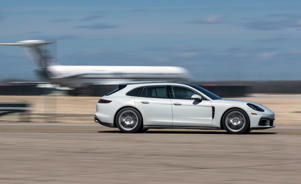a car parked on a runway: 2018 Porsche Panamera 4/4S Sport Turismo