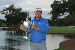 ST SIMONS ISLAND, GEORGIA - NOVEMBER 18: Charles Howell III of the United States poses with the trophy after winning the RSM Classic at the Sea Island Golf Club Seaside Course on November 18, 2018 in St. Simons Island, Georgia. (Photo by Streeter Lecka/Getty Images)