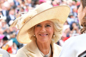 a woman wearing a hat: Camilla Parker Bowles