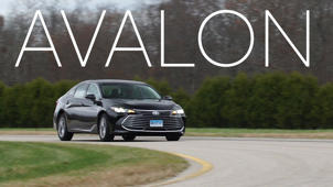 a car on the road: 2019 Toyota Avalon Road Test