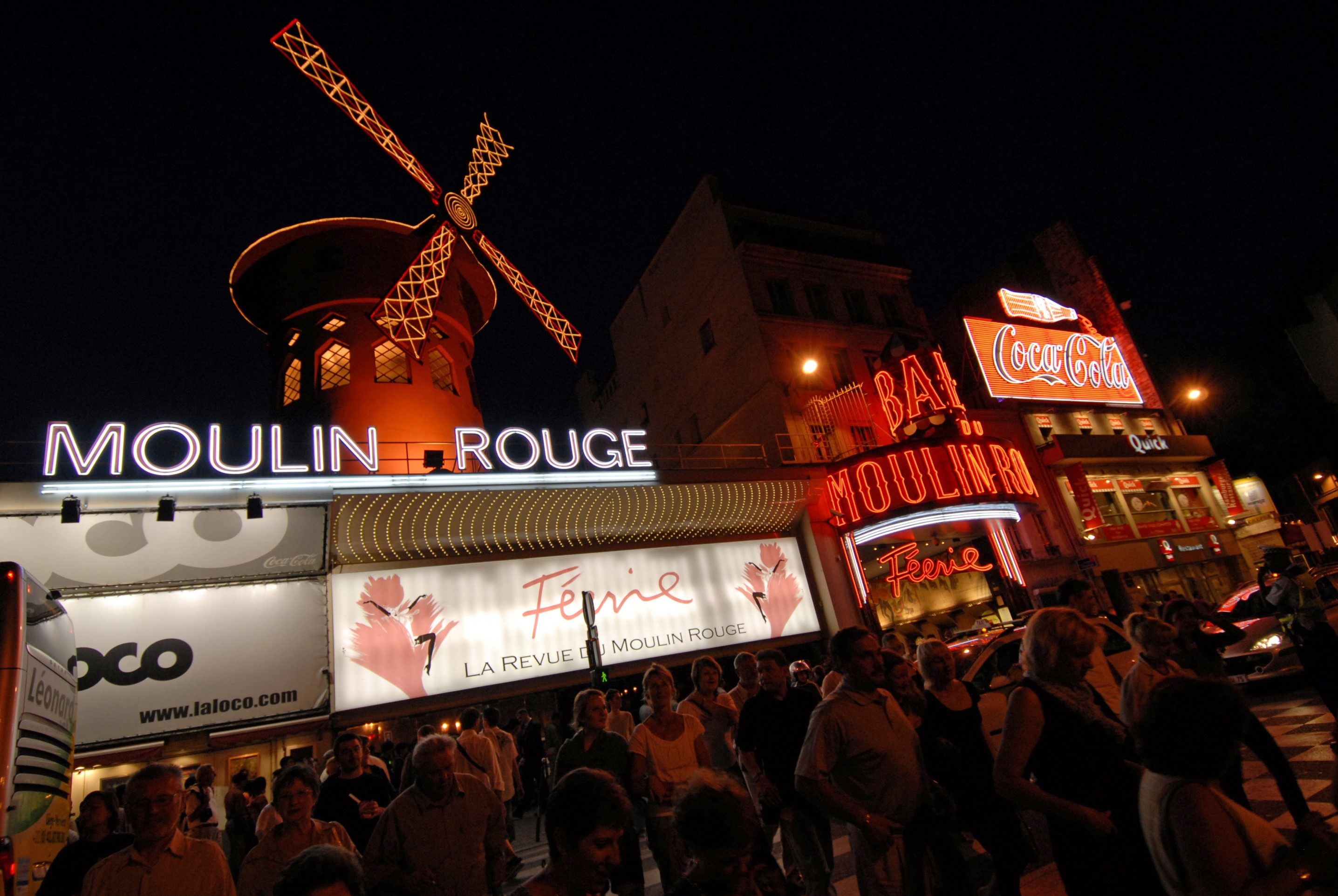 Slide 24 of 31: Moulin Rouge is another worst Paris tourist attraction to say non to. The nightclub's heyday has long since passed, and it's not worth shelling out the big bucks (er, euros) for a canned cancan experience alongside the tourist hordes here.