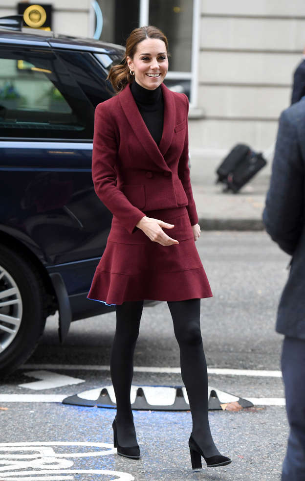 a81b265c7105f Kate matches Meghan in her berry-coloured outfit on the same day