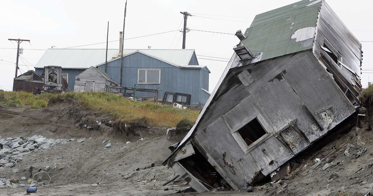 An Alaskan village is falling into the sea  Washington is