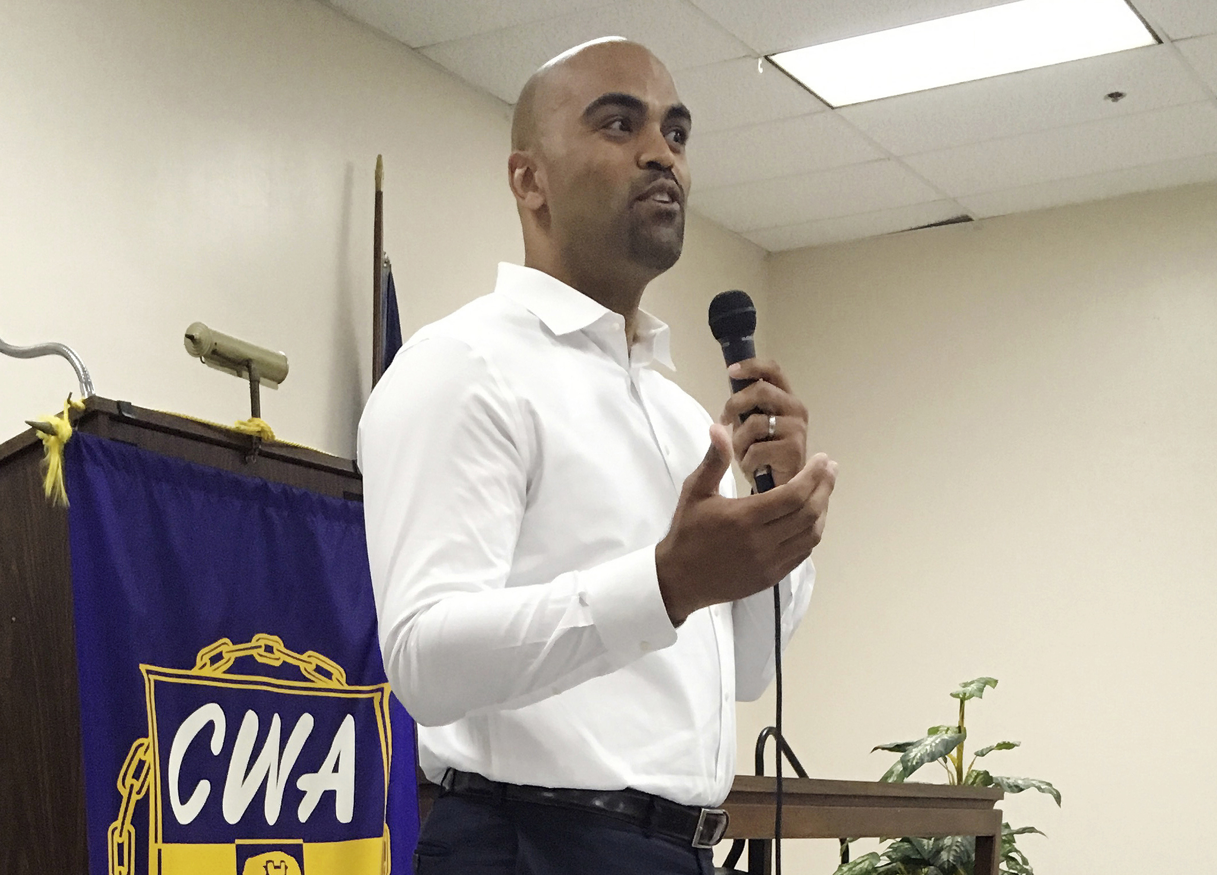 CAPTION: FILE   In This April 7, 2018, File Photo, Colin Allred