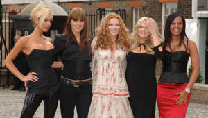 The Spice Girls attend a photocall at The Royal Observatory Greenwich. (Photo by Rune Hellestad/Corbis via Getty Images)