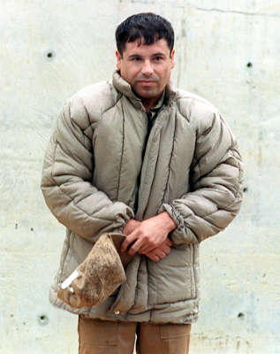 ALMOLOYA DE JUAREZ, MEXICO - JULY 10:  This 10 July, 1993, file photo shows drug trafficker Joaquin Guzman Loera 'el Chapo Guzman' at the Almoloya de Juarez, Mexico, maximum security prison. Mexican authorities announced that Guzman escaped 20 January, 2001, the Puente Grande, Jalisco, maximum security prison.   (FILM)  (Photo credit should read GERARDO MAGALLON/AFP/Getty Images)