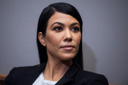 UNITED STATES - APRIL 24: Kourtney Kardashian participates in an Environmental Working Group briefing on cosmetics reform in Russell Building on April 24, 2018.  (Photo By Tom Williams/CQ Roll Call)