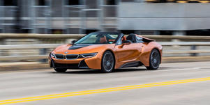 The BMW i8 Roadster Makes a Showier High-Tech Showpiece: The BMW i8 roadster is a more extroverted version of the brand's forward-thinking, techy supercar.