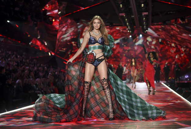 fc021b0079 Model Gigi Hadid walks the runway during the 2018 Victoria s Secret Fashion  Show at Pier 94
