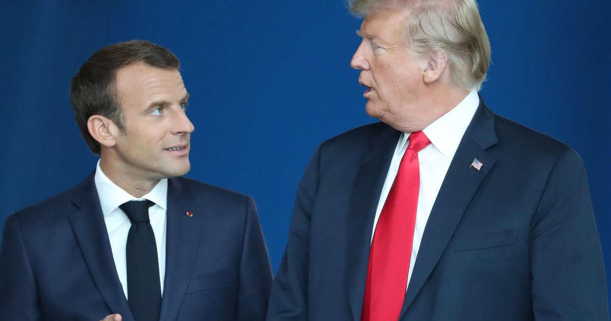 Trump Peine Charge Arrivé Macron A Paris À pFq44P