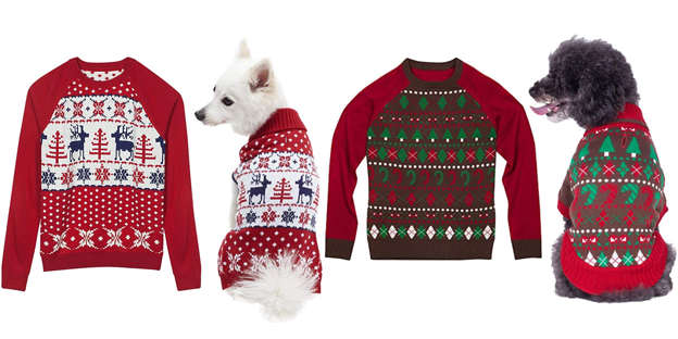 These Cute Christmas Sweaters Let You And Your Dog Match