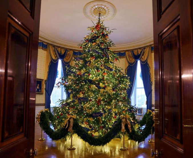 Maison Sapin De Noel Les sapins de Noël à la Maison Blanche au fil des ans