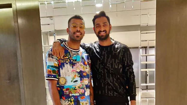 80bd0f6b1 Krunal and Hardik Pandya became the first pair of brothers since Irfan and  Yusuf Pathan to