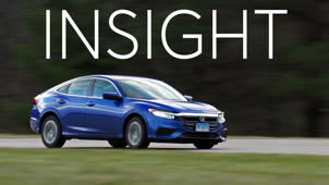 a car parked in the grass: 2019 Honda Insight Road Test
