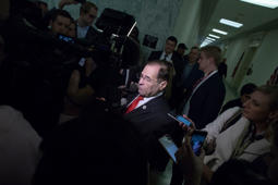 US Representative Jerry Nadler talks to reporters as he arrives at a closed House Judiciary Committee to hear testimony from former FBI Director James Comey on Capitol Hill in Washington, DC on December 7, 2018.