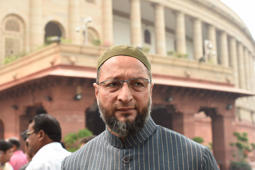 Poll results: Owaisi reaches KCR office on a bike