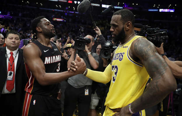 7cd954e4f0a LeBron James, Dwyane Wade author one more special moment on court together
