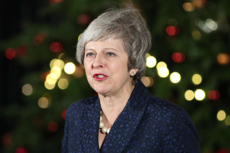 Prime Minister Theresa May makes a statement in 10 Downing Street, London